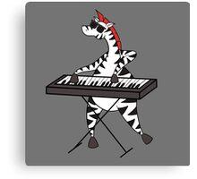 Zebra Keyboard Canvas Print