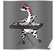 Zebra Keyboard Poster