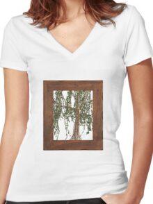 Full Summer Willow Women's Fitted V-Neck T-Shirt