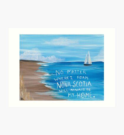 Nova Scotia Sailboat  Art Print