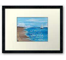 Nova Scotia Sailboat  Framed Print