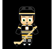 Ice Hockey Black Photographic Print