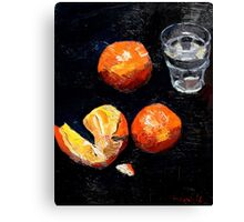 Oranges and glass Canvas Print