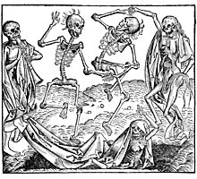 Totentanz / Dance of macabre - black print Photographic Print