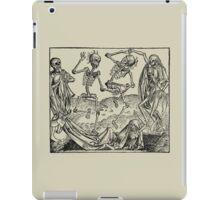 Totentanz / Dance of macabre - black print iPad Case/Skin