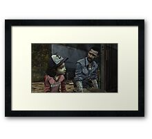The Walking Dead-Clementine and Lee Framed Print