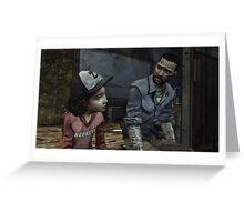 The Walking Dead-Clementine and Lee Greeting Card