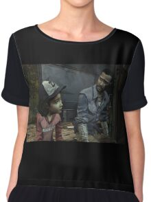 The Walking Dead-Clementine and Lee Chiffon Top