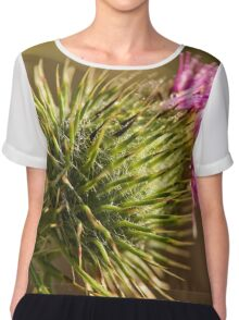 Green and Spikey (3) Chiffon Top