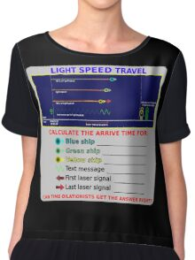 Science - Light Speed Travel Chiffon Top