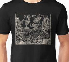 Totentanz / Dance of macabre - white print Unisex T-Shirt