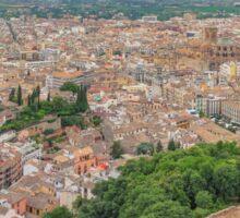 Granada - City of My Dreams - from Torre de la Vela Sticker