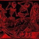 Totentanz / Dance of macabre - red print by Bela-Manson