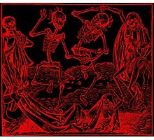 Totentanz / Dance of macabre - red print Photographic Print