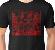 Totentanz / Dance of macabre - red print Unisex T-Shirt