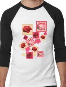 Red Roses Men's Baseball ¾ T-Shirt