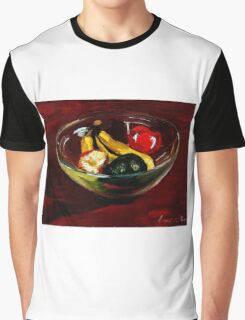 Fruit bowl on brown Graphic T-Shirt