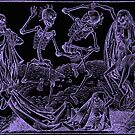 Totentanz / Dance of macabre - violet print by Bela-Manson