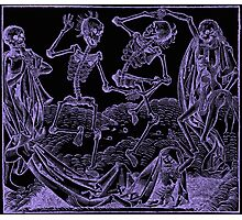 Totentanz / Dance of macabre - violet print Photographic Print