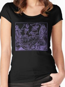 Totentanz / Dance of macabre - violet print Women's Fitted Scoop T-Shirt