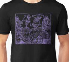 Totentanz / Dance of macabre - violet print Unisex T-Shirt