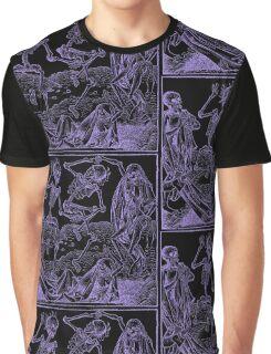 Totentanz / Dance of macabre - violet print Graphic T-Shirt