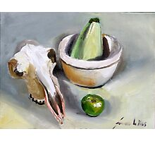 Sheep`s bowl apple and zucchini  Photographic Print