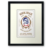 Nick Diaz Rolling Papers - High Grade Mixed Martial Arts Framed Print