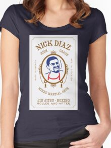 Nick Diaz Rolling Papers - High Grade Mixed Martial Arts Women's Fitted Scoop T-Shirt