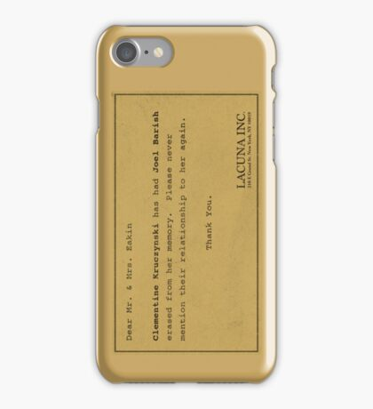 Eternal Sunshine Memory Loss iPhone Case/Skin