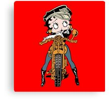 Ms. Betty Is A Great Bike Rider Canvas Print