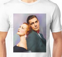 Colorized Joan Crawford & Clark Gable in 1931 Possessed Unisex T-Shirt