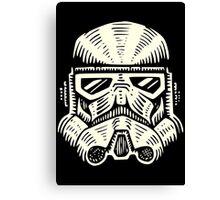 Space Soldier Helmet Canvas Print