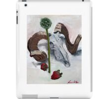 Ram chives and strawberries  iPad Case/Skin