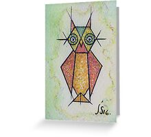first Owl aceo  Greeting Card