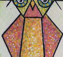first Owl aceo  Sticker