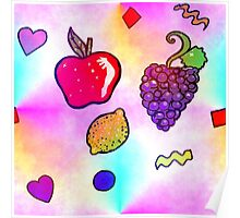 Fruit Flavored Seamless Pattern Poster