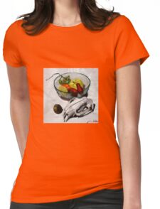 wombat fruit bowl Womens Fitted T-Shirt