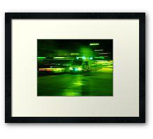 'Police Rush' - Park Street, Bristol 2015 Framed Print