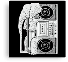 Record Store Day : Elephant Loves Music Style Canvas Print