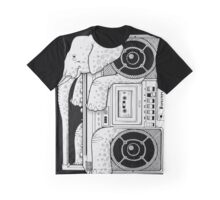 Record Store Day : Elephant Loves Music Style Graphic T-Shirt