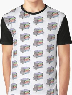 Stacked Books Graphic T-Shirt