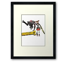 Borderlands 2-Gaige and Deathtrap Framed Print