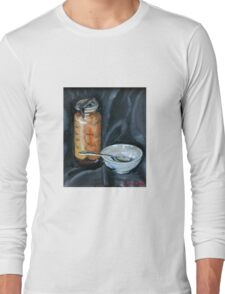preserved apricots  with bowl and spoon Long Sleeve T-Shirt
