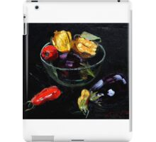 beautiful vegetables on black     iPad Case/Skin