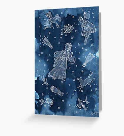 All the stars in the sky Greeting Card
