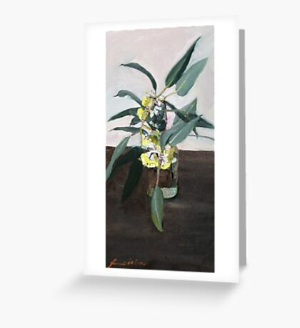 Yellow eucalyptus blossom      Greeting Card