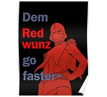 Quotes and quips - dem red wunz - Char Poster