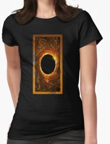 black hole portal Womens Fitted T-Shirt
