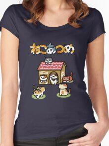 Neko Atsume Women's Fitted Scoop T-Shirt